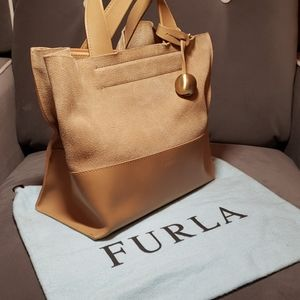 Furla suede leather purse made in Italy